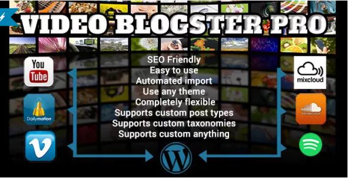 Il plug-in di Video Blogster Pro WordPress crea blog automatico