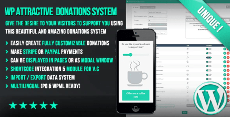 Wp attractive donations system easy stripe paypal donations plugin wordpress