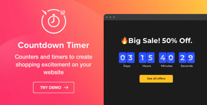 Countdown timer wordpress countdown timer plugin wordpress