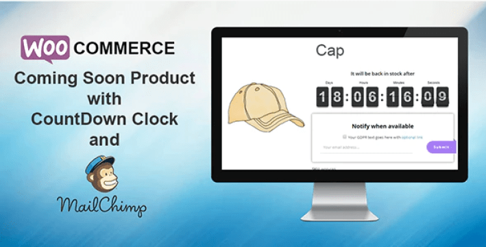 Woocommerce coming soon product with countdown plugin wordpress