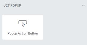 botão de ação pop-up