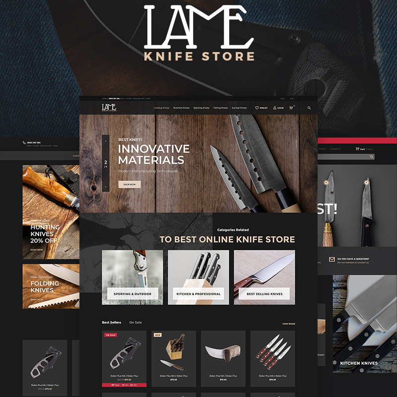 LAME - PrestaShop Тема для магазина ножей