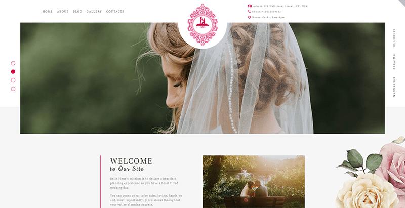 thèmes WordPress pour créer un site Web de mariage - Foreverlove