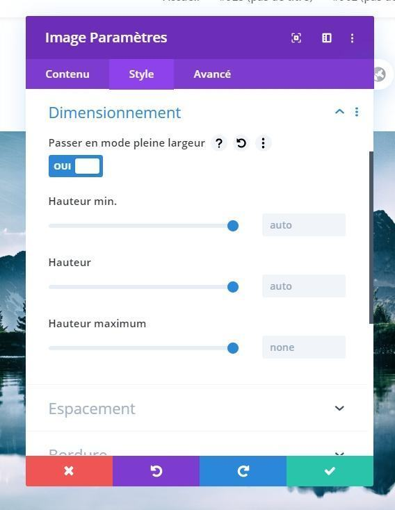Modification taille image divi