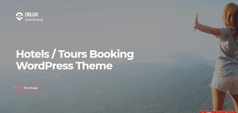 เวิร์ดเพรสธีม Delux สร้างเว็บไซต์ บริษัท ทัวร์ตัวแทนการท่องเที่ยว