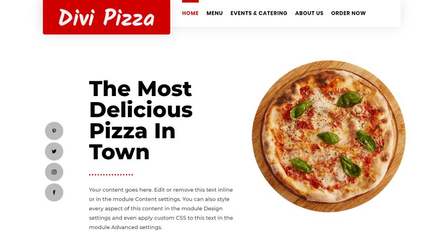 Divi pizza layout pack