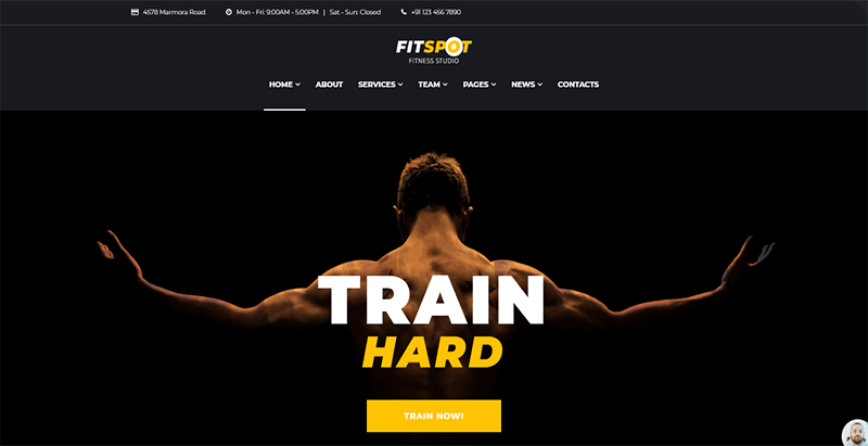 Fitspot theme wordpress creer site web coach tutor clube fitness gym