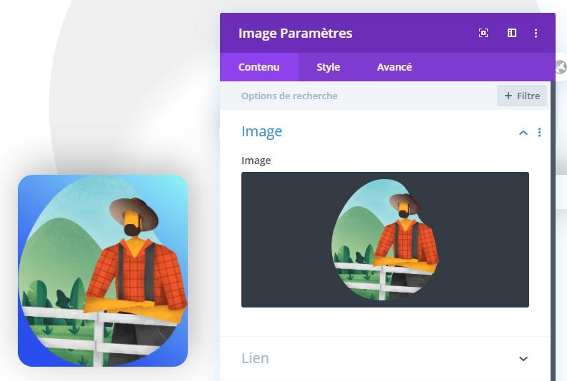 Ajouter une image transparent divi