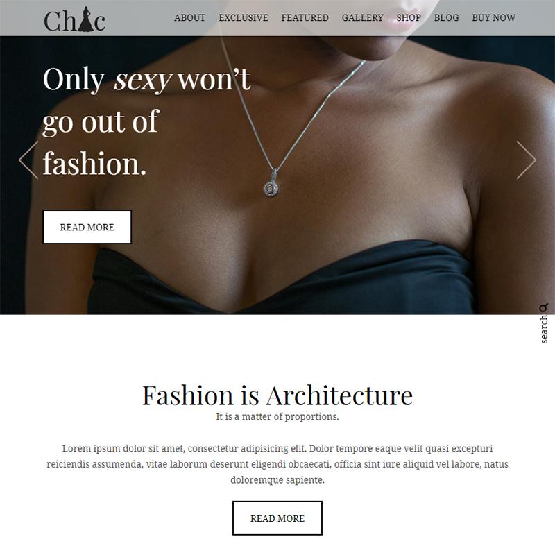 Chic Fashion Thème WordPress