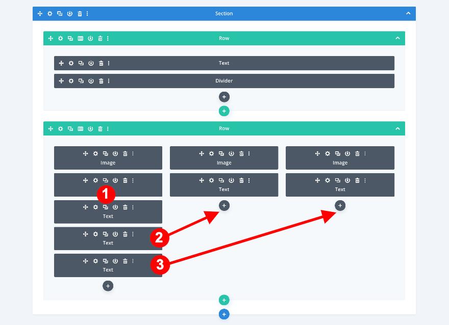 Dupliquer le module texte sur dautre colonne divi