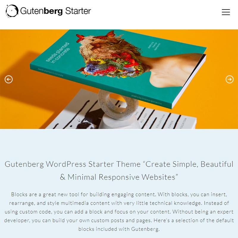 Gutenberg WordPress Tema başlamak için