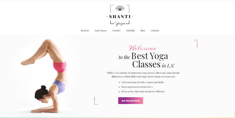 Shanti - meilleurs thèmes WordPress de Yoga