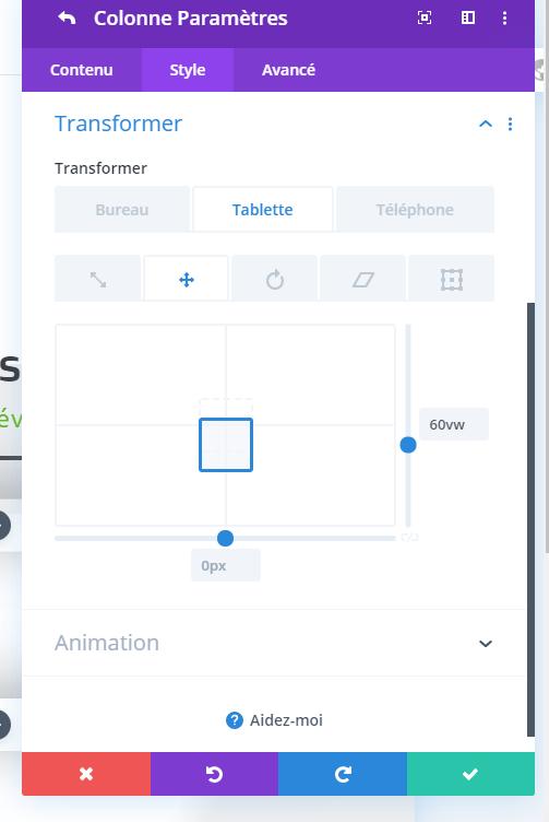 Transformation module divi