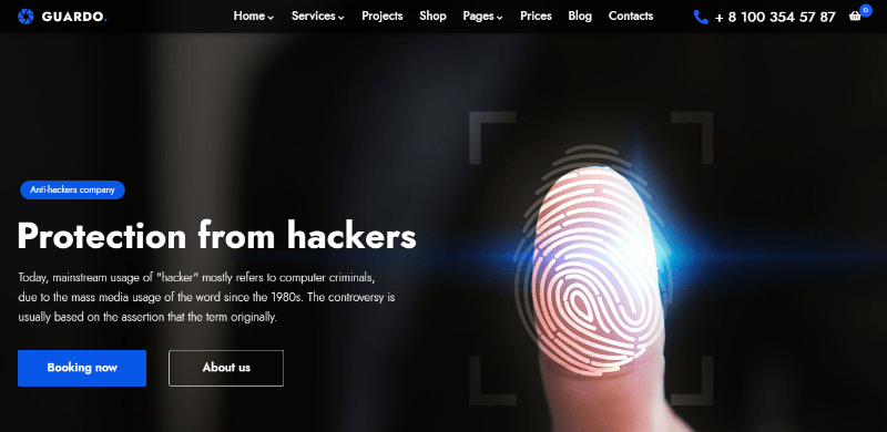 Solutech themes wordpress creer site web entreprise securite surveillance