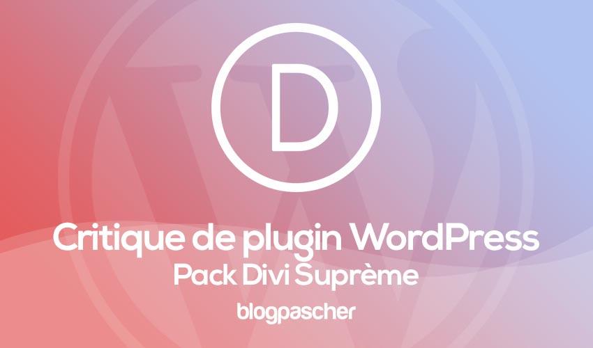 Critique De Plugin Wordpress Divi