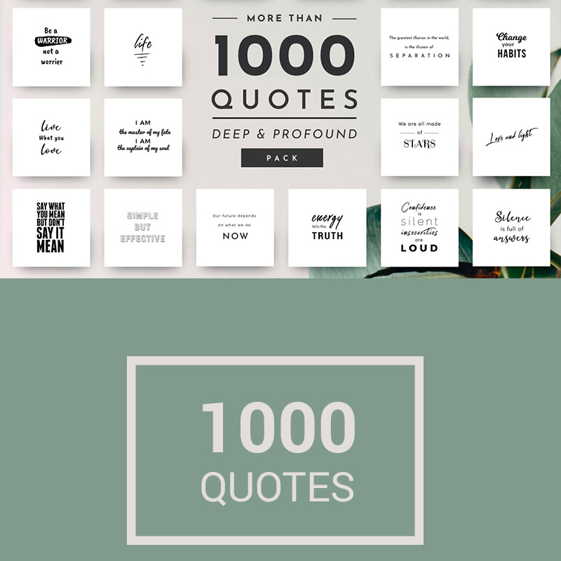1,000 Unique und Stylish Quotes für Social Media