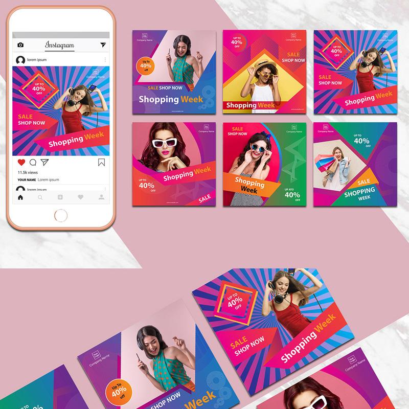 Pack de bannières colorées Instagram