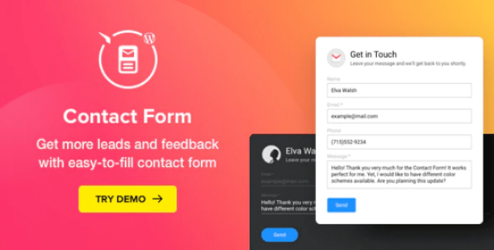 formulaire de contact - Contact form wordpress contact form plugin wordpress
