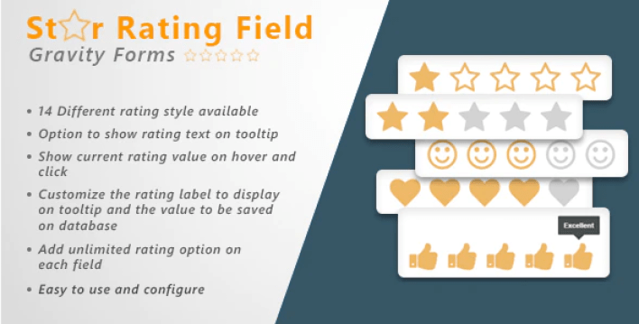 Gravity forms star rating field by onepieceofcode codecanyon plugin wordpress