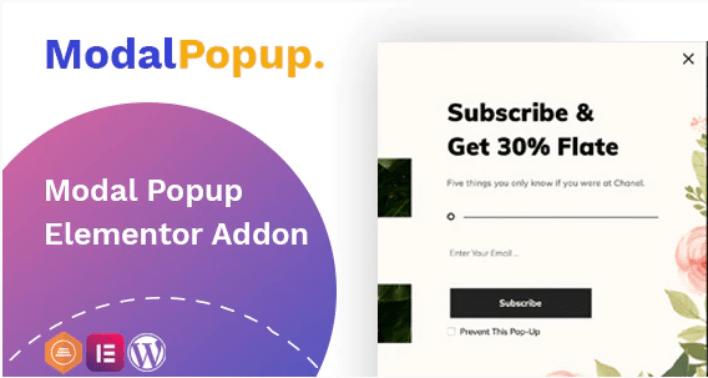 Modal popup box elementor addon plugins wordpress pop up