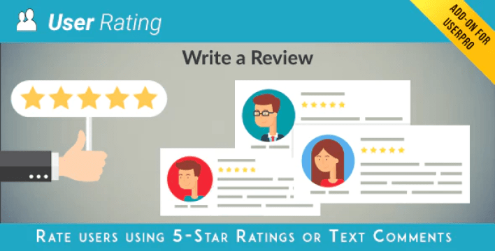User rating review add on for userpro plugin wordpress