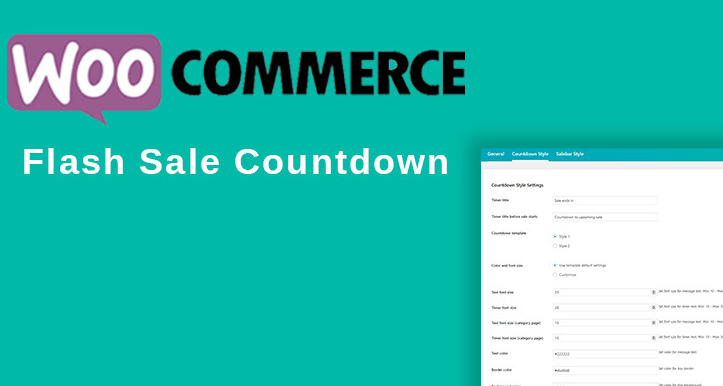Wordpress plugin woocommerce flash sale countdown compte a rebours