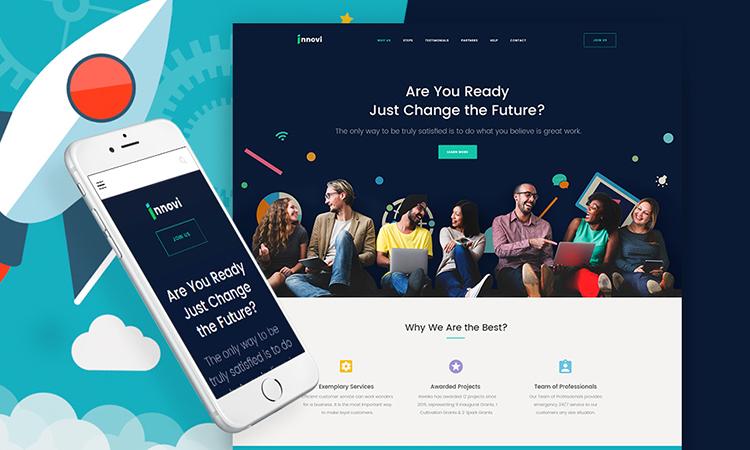 Startup & Agence de création numérique thème WordPress adaptatif