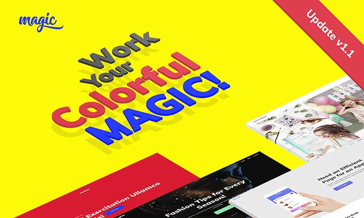 Magic thème WordPress adaptatif