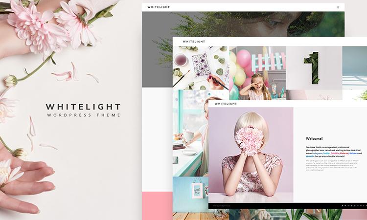 WhiteLight - professional photographer portfolio thème WordPress adaptatif