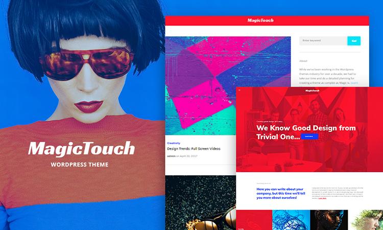 MagicTouch - Web Design Studio Responsive thème WordPress adaptatif