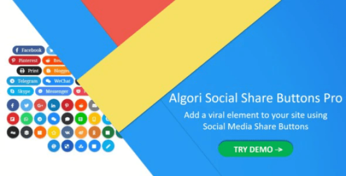 Algori social share buttons pro for wordpress gutenberg plugin wordpress