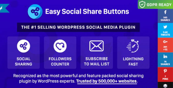 Easy social share buttons for wordpress plugin