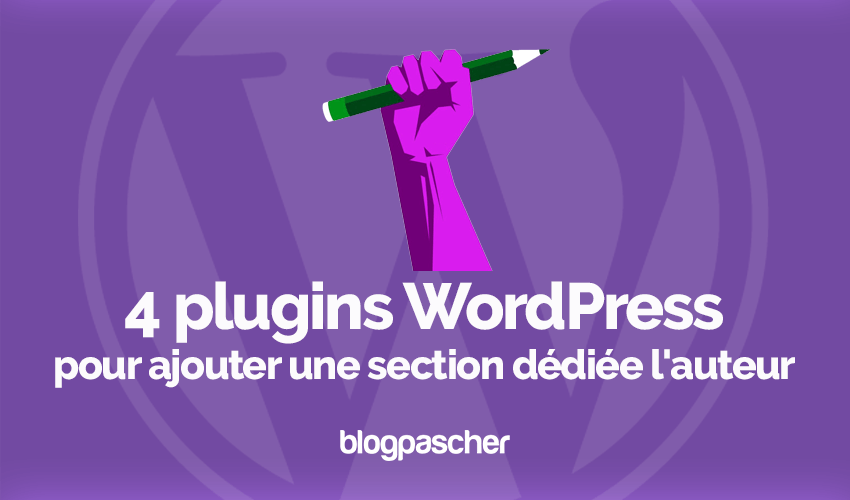 Plugins Wordpress Ajouter Section Auteur