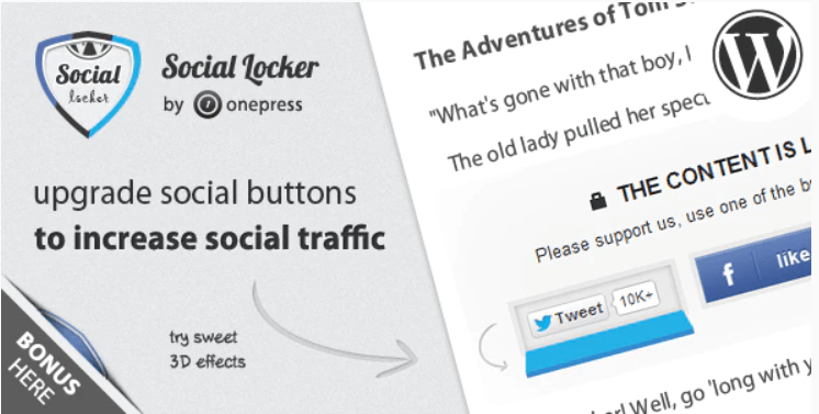 social locker -protéger votre contenu