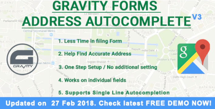 Gravity forms address autocomplete plugin wordpress