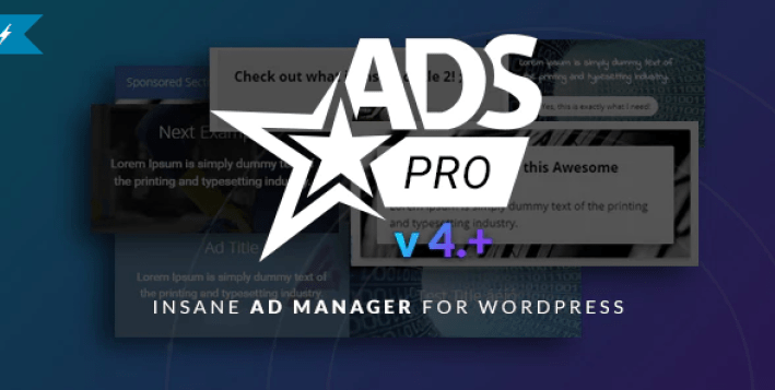 Plugin wordpress ads pro afficher annonces bannières publicitaires