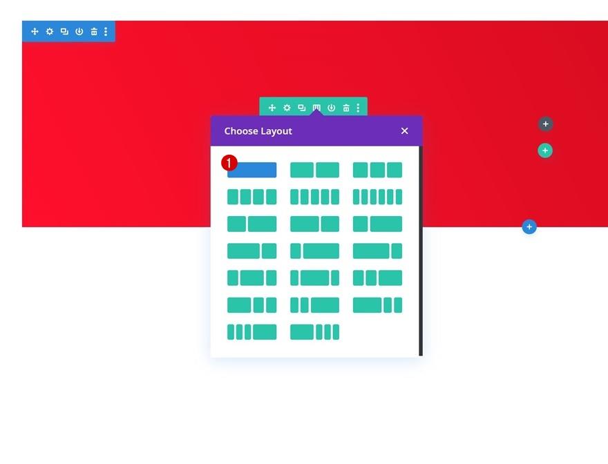 Configuration mise en page colonne divi