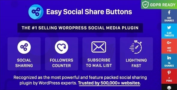 Easy social share buttons wordpress
