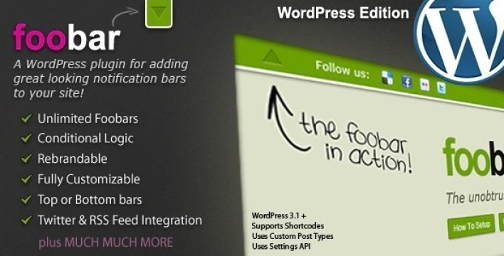 Foobar plugin wordpress pour notification