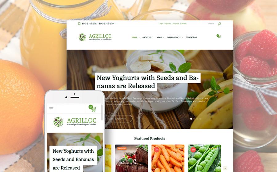 Agrilloc - Сельскохозяйственное снабжение и сельскохозяйственная продукция Адаптивная тема WooCommerce