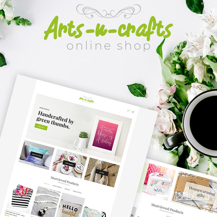 Arts-n-crafts - Handgemaakte Art Elementor Adaptive WooCommerce Theme