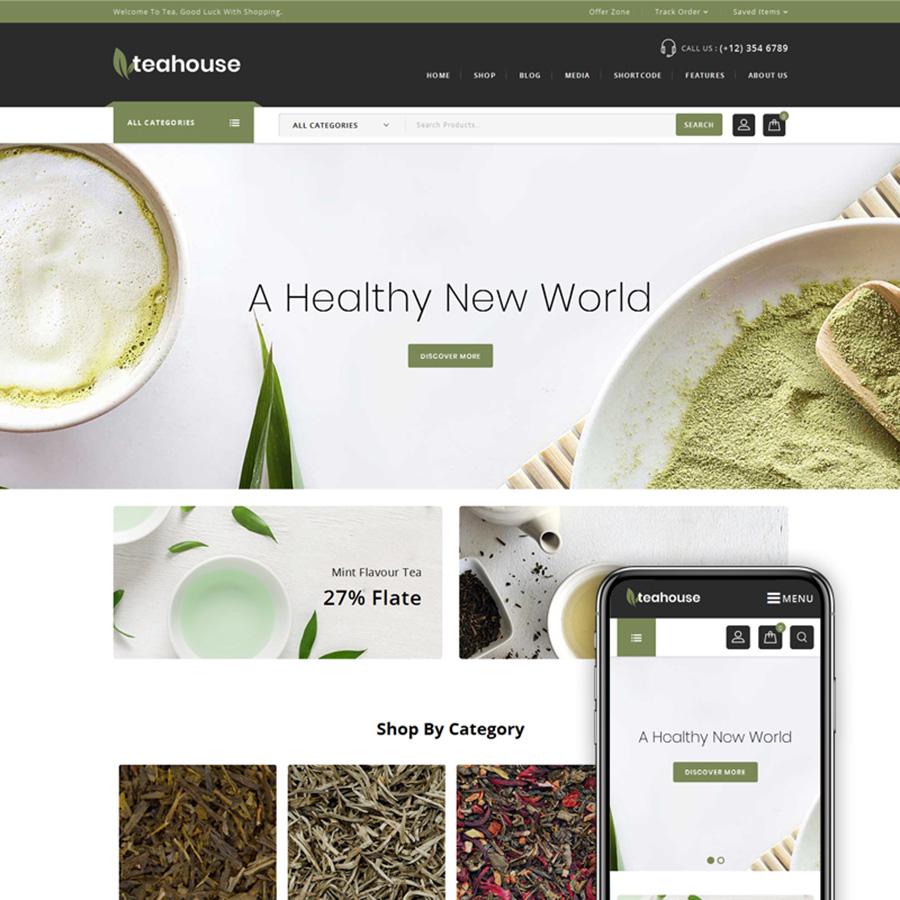 Teahouse - Multi Purpose Store thème WooCommerce adaptatif