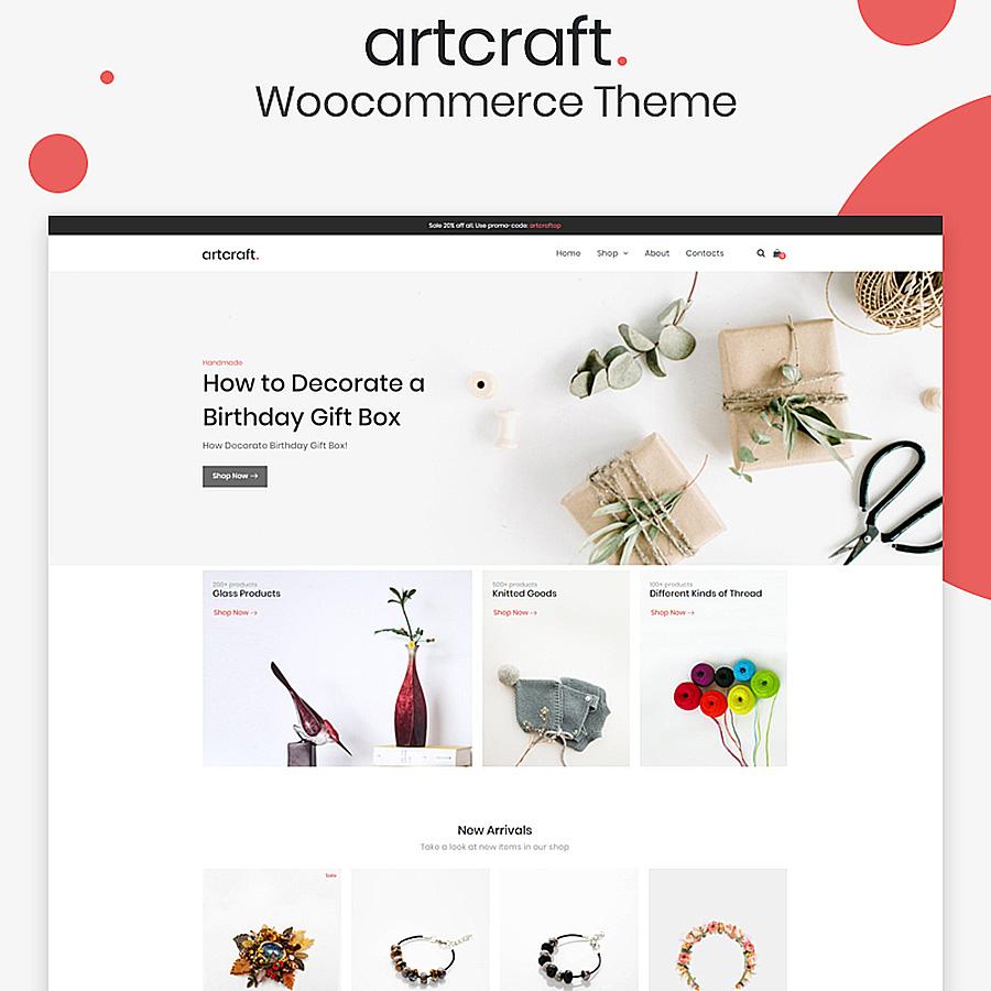 Artcraft - Handmade ECommerce Clean Elementor thème WooCommerce adaptatif