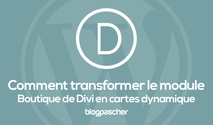 Comment Transformer Le Module Boutique En Carte Dynamique