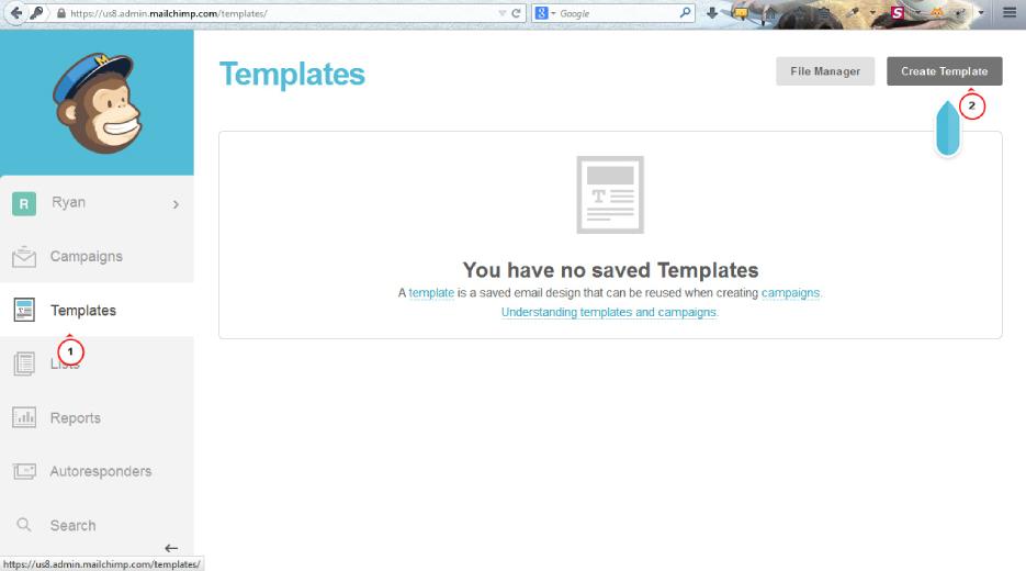 create mailchimp template