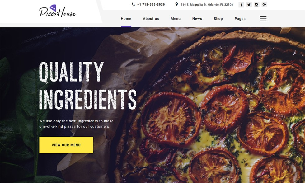 Pizza House - Modèle HTML multipage