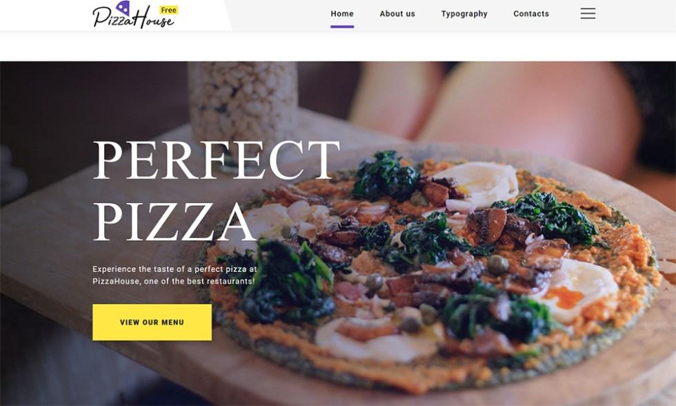 Thème HTML5 gratuit pour site Web de restaurant