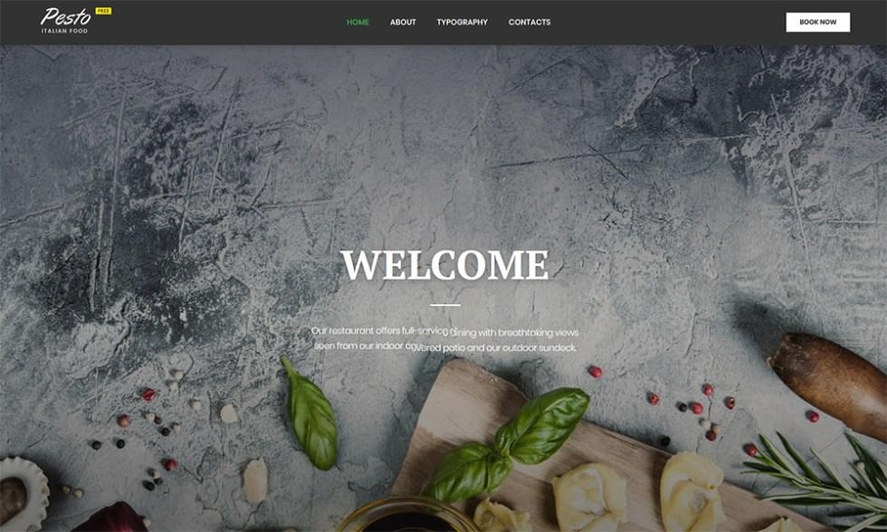 Modèle HTML gratuit pour site de restaurant