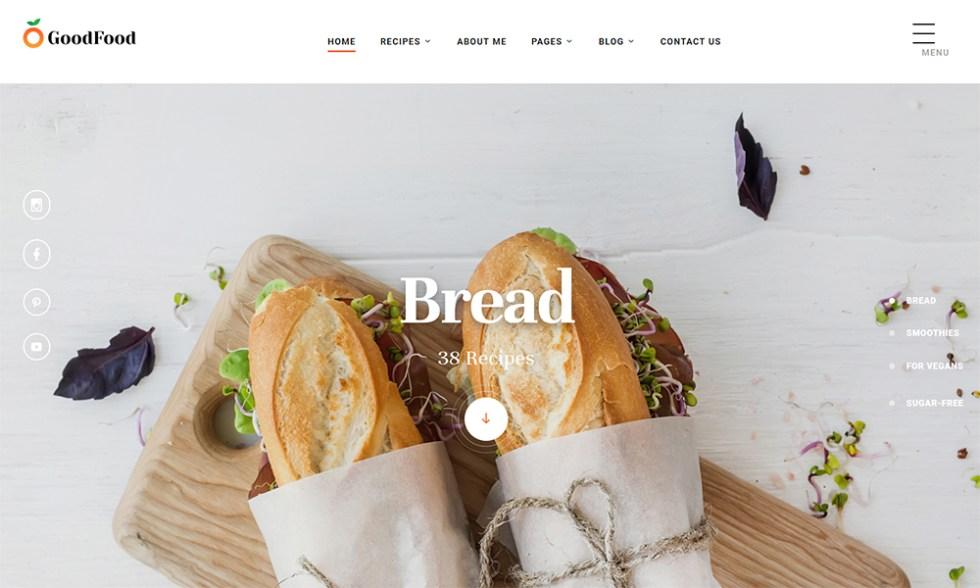 Modèle de site Web de recettes