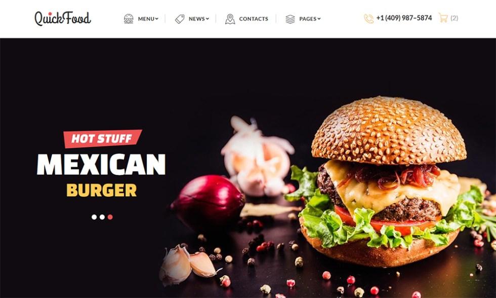 Modèle HTML pour restaurant de restauration rapide